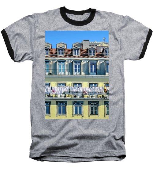 Lisbon Laundry Baseball T-Shirt by Marion McCristall