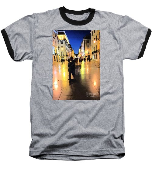 Lisbon Love Baseball T-Shirt by Tom Wurl