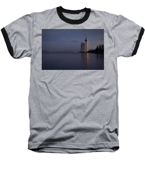 Lisbon Night Scene Baseball T-Shirt
