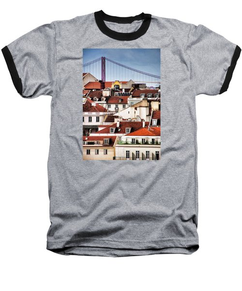 Baseball T-Shirt featuring the photograph Lisbon Rooftops by Dennis Cox WorldViews