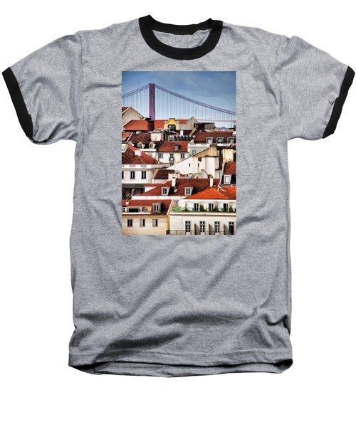 Lisbon Rooftops Baseball T-Shirt
