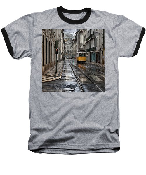 Baseball T-Shirt featuring the photograph Lisbon Streets by Jorge Maia