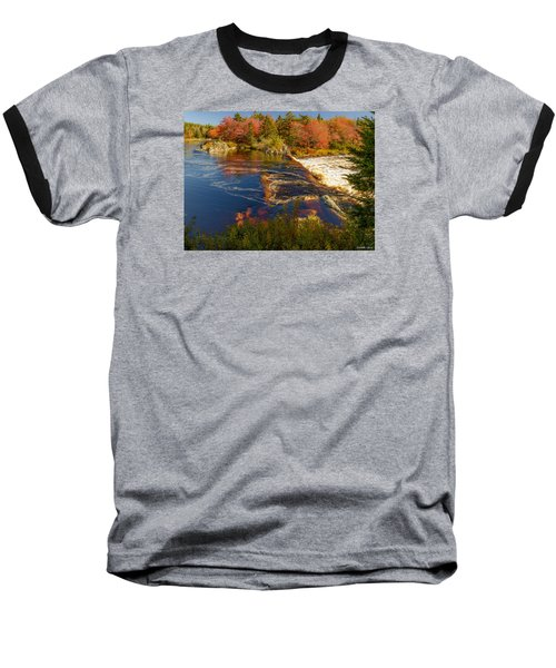 Liscombe Falls Baseball T-Shirt by Ken Morris