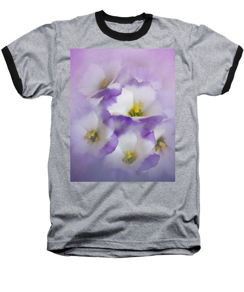 Baseball T-Shirt featuring the photograph Lisianthus Grouping by David and Carol Kelly