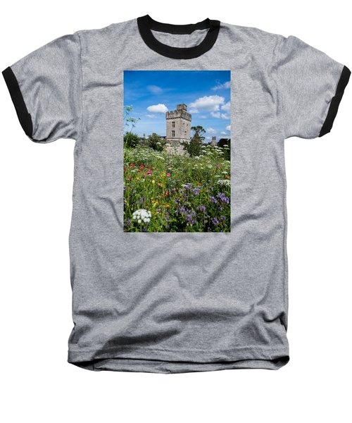 Lismore Castle Gardens Baseball T-Shirt by Martina Fagan