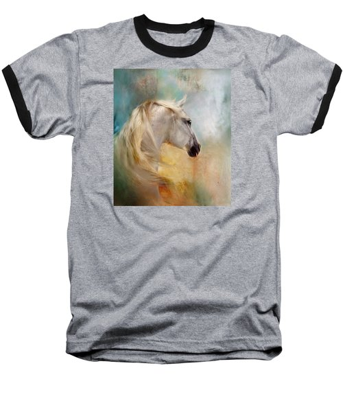 Baseball T-Shirt featuring the digital art Listen To The Wind- Harley by Dorota Kudyba