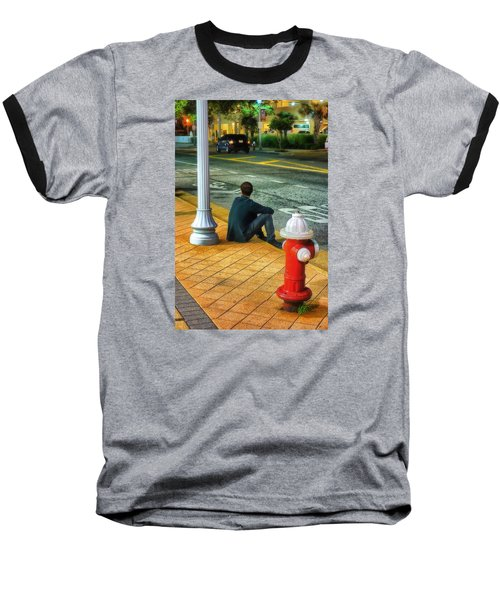 Baseball T-Shirt featuring the photograph Listening  by Beth Akerman