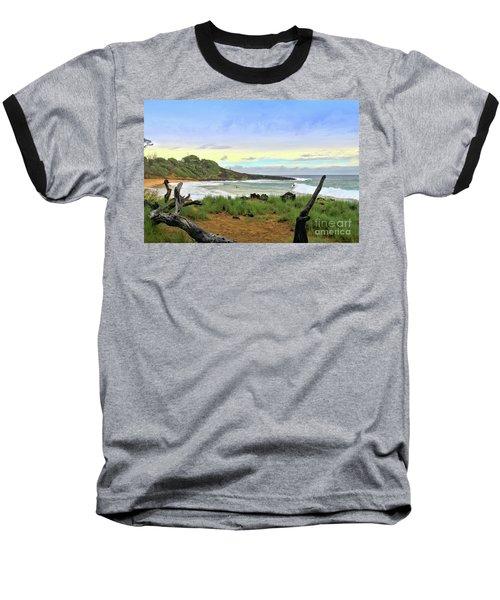 Baseball T-Shirt featuring the photograph Little Beach by DJ Florek