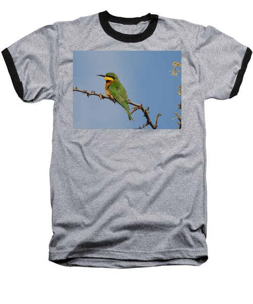 Baseball T-Shirt featuring the photograph Little Bee-eater by Betty-Anne McDonald