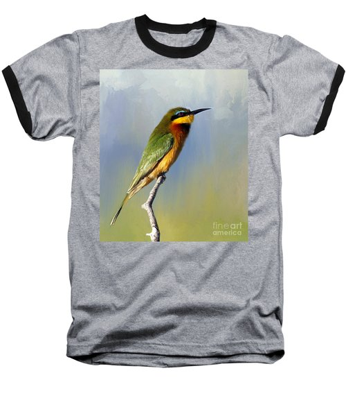 Baseball T-Shirt featuring the photograph Little Bee-eater by Myrna Bradshaw