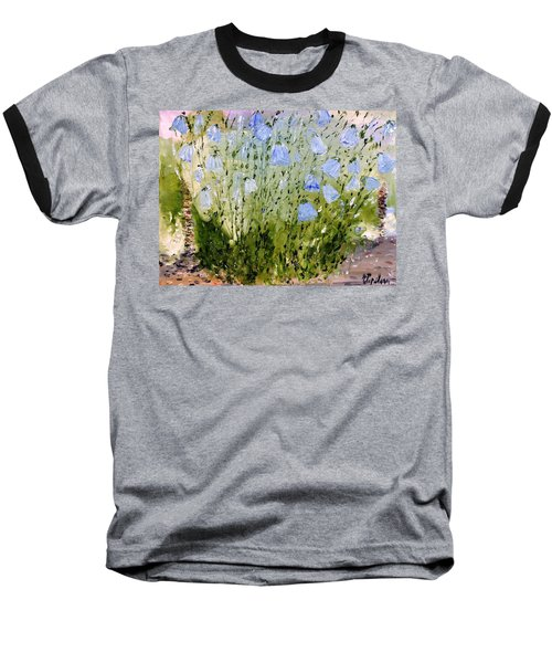 Baseball T-Shirt featuring the painting Little Bells by Evelina Popilian