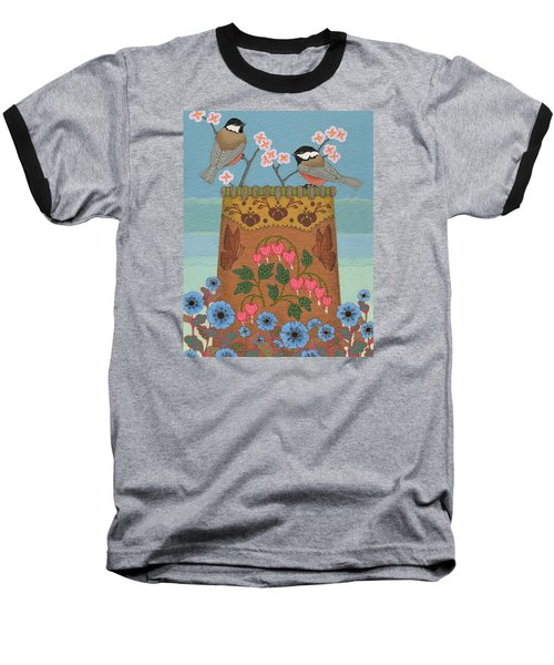 Baseball T-Shirt featuring the painting Little Bird by Chholing Taha