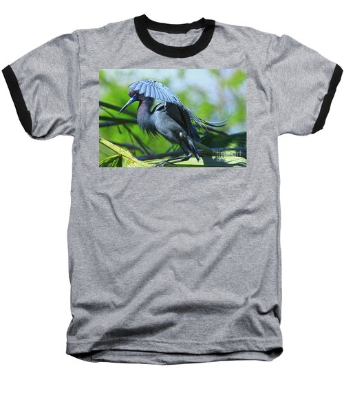 Baseball T-Shirt featuring the photograph Little Blue Heron Alligator Farm by Deborah Benoit