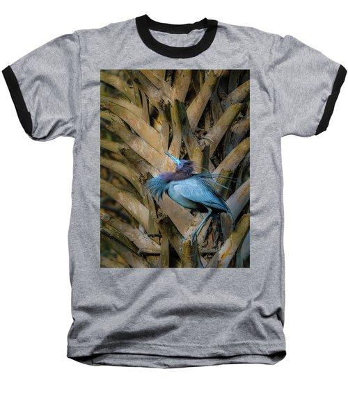 Little Blue Heron Baseball T-Shirt