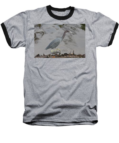 Little Blue Heron Walking Baseball T-Shirt by Christiane Schulze Art And Photography