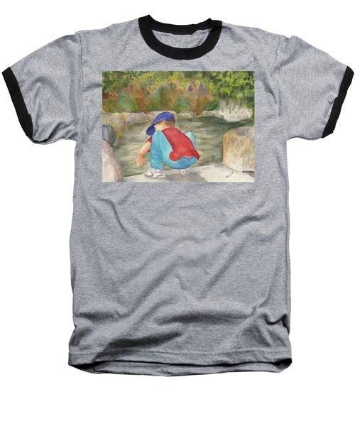 Little Boy At Japanese Garden Baseball T-Shirt