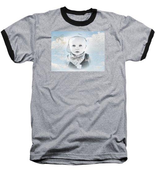 Little Boy Blue Baseball T-Shirt by Karen Lewis
