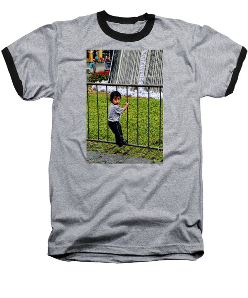 Little Boy In Peru Baseball T-Shirt