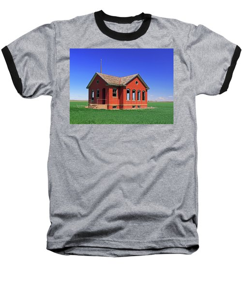 Little Brick School House Baseball T-Shirt by Christopher McKenzie