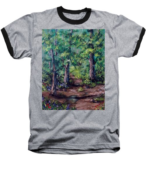Little Clearing Baseball T-Shirt by Megan Walsh