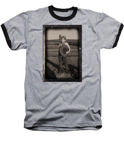 Little Cowgirl, Big Hat Baseball T-Shirt