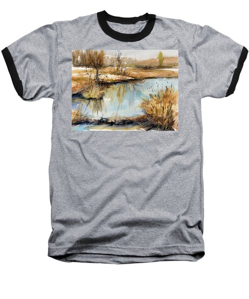 Little Dam Baseball T-Shirt by Judith Levins