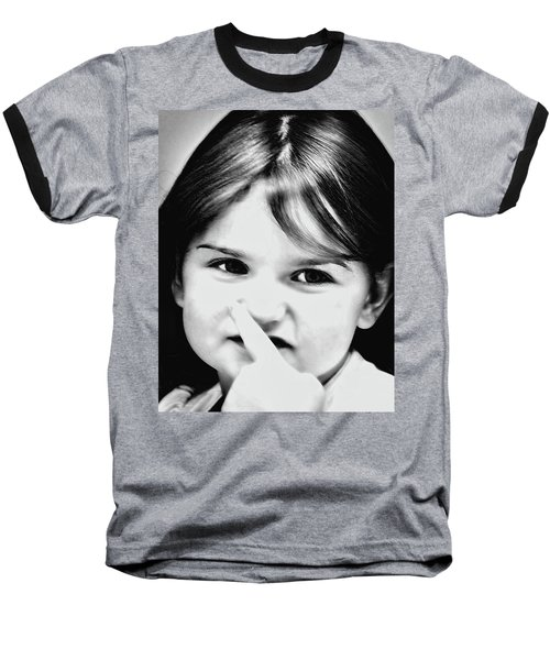 Little Emma Baseball T-Shirt by Rena Trepanier