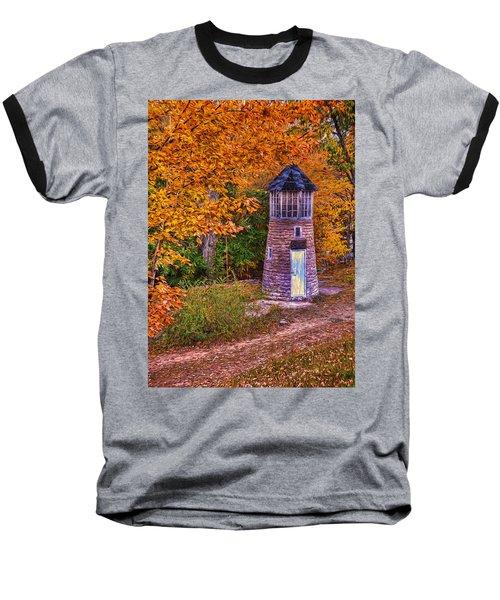 Baseball T-Shirt featuring the photograph Little Falls Autumn Lighthouse by Trey Foerster