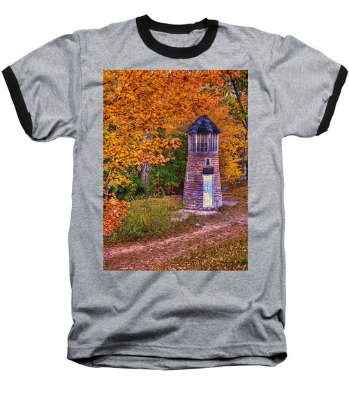 Little Falls Autumn Lighthouse Baseball T-Shirt