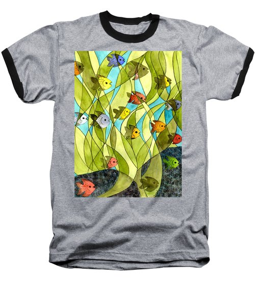 Little Fish Big Pond Baseball T-Shirt