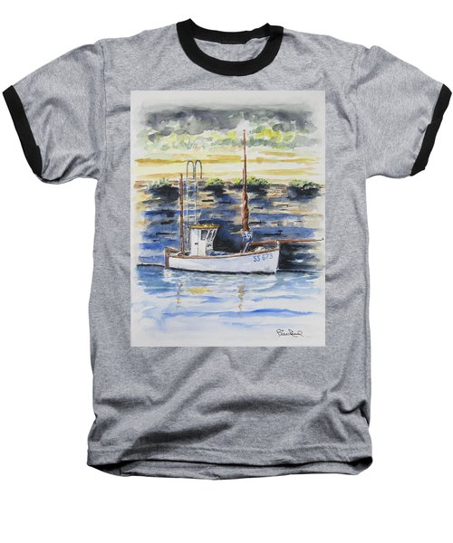 Little Fishing Boat Baseball T-Shirt