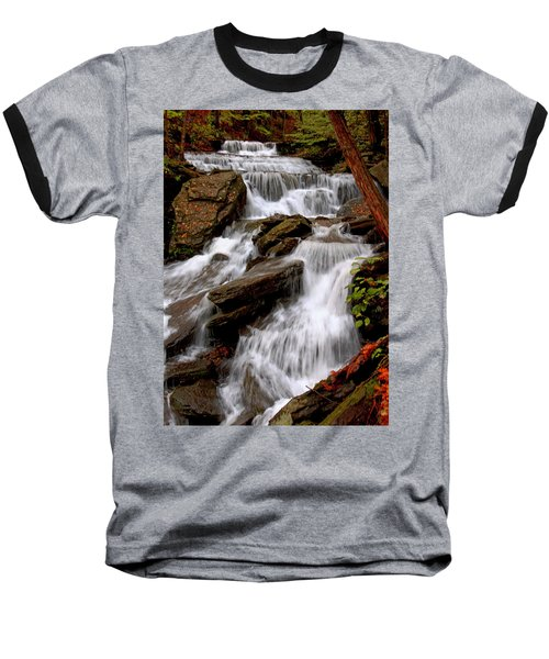 Baseball T-Shirt featuring the photograph Little Four Mile Run Falls by Suzanne Stout