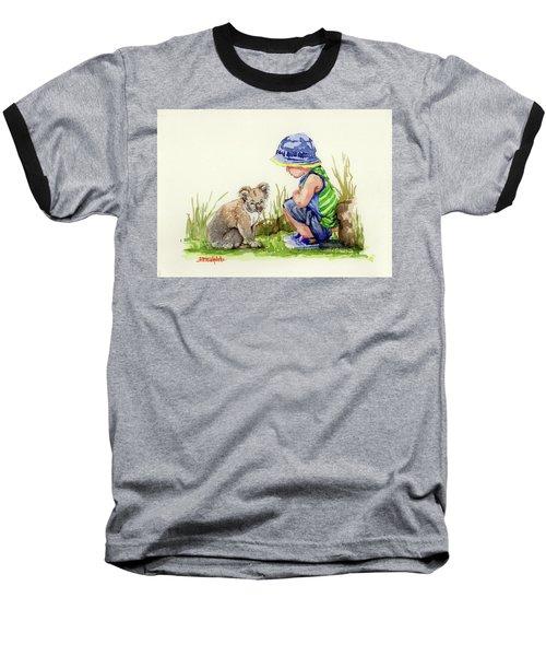 Little Friends Watercolor Baseball T-Shirt