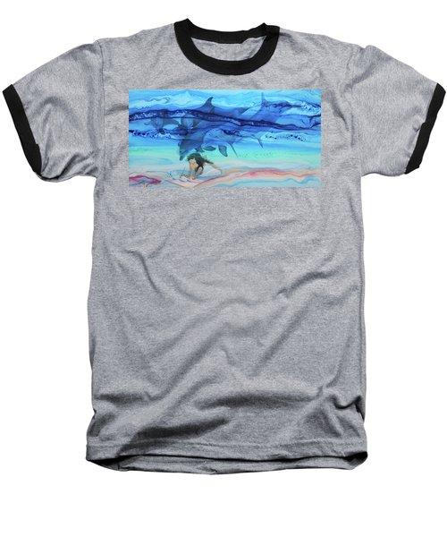Little Girl Painter Baseball T-Shirt