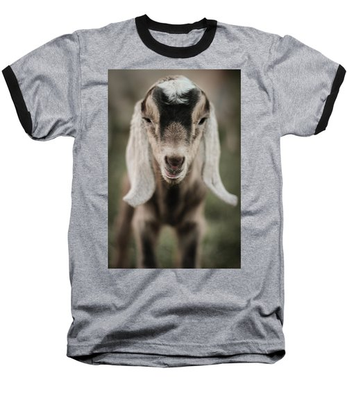 Little Goat In Color Baseball T-Shirt