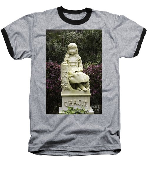 Little Gracie Bonaventure Cemetery Baseball T-Shirt by Jeannette Hunt