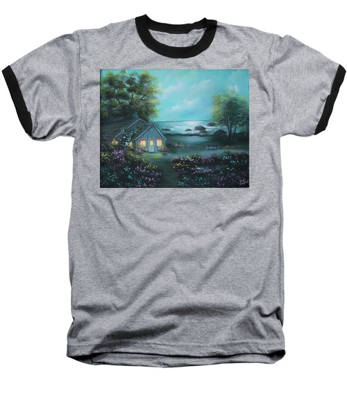 Little House By The Sea Baseball T-Shirt