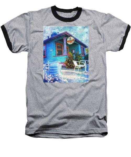 Little House Cafe  Baseball T-Shirt by Linda Weinstock