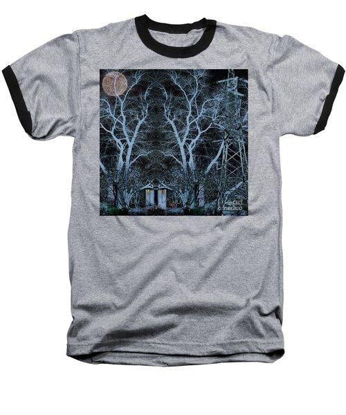 Little House In The Woods Baseball T-Shirt