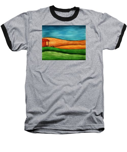 Little House On Hill Baseball T-Shirt