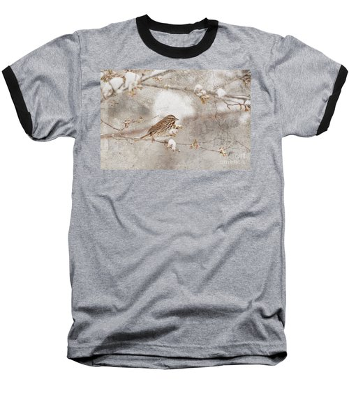 Baseball T-Shirt featuring the photograph Little House Sparrow by Lila Fisher-Wenzel