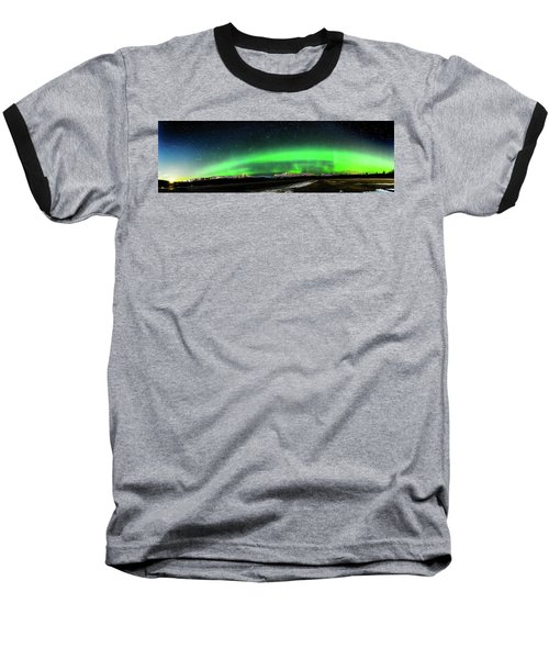 Little House Under The Aurora Baseball T-Shirt