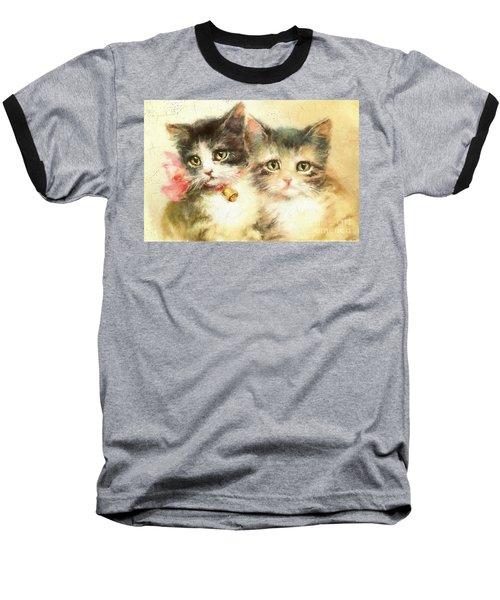 Little Kittens Baseball T-Shirt