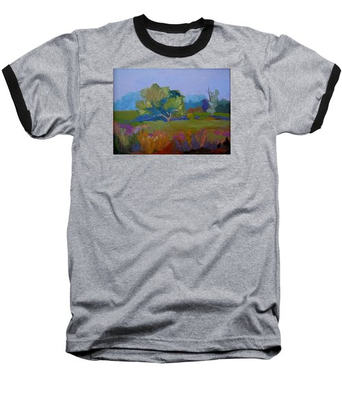 Baseball T-Shirt featuring the painting Little Miami Meadow by Francine Frank