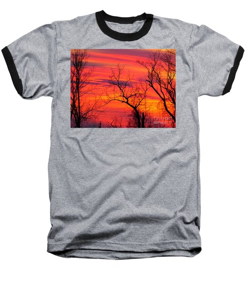 Little More Color At Sunset Baseball T-Shirt
