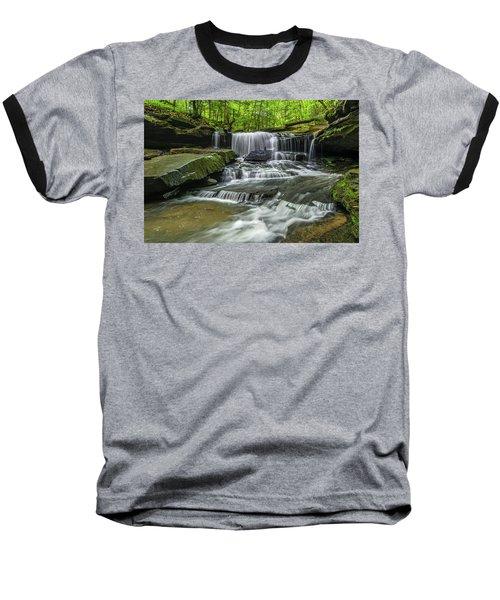 Little Mudlick Falls Baseball T-Shirt by Ulrich Burkhalter