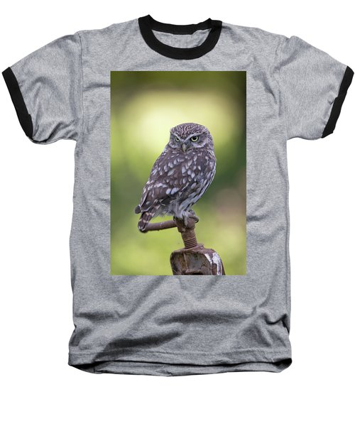 Little Owl Pipe Bender Baseball T-Shirt