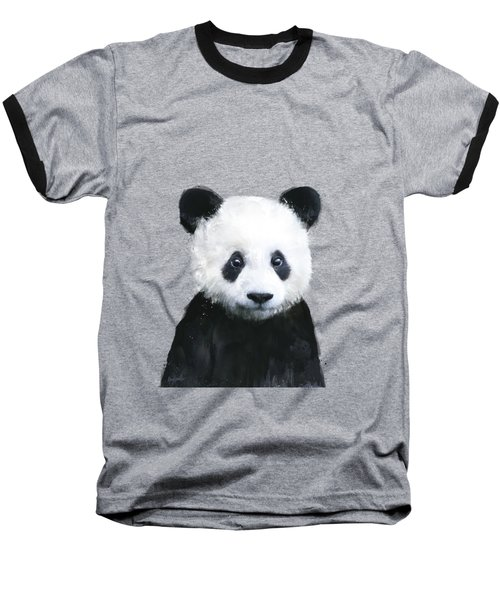Little Panda Baseball T-Shirt by Amy Hamilton