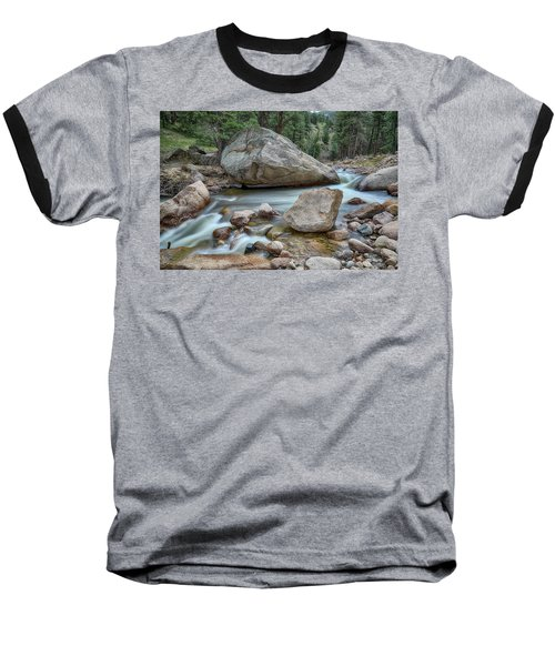 Little Pine Tree Stream View Baseball T-Shirt by James BO Insogna