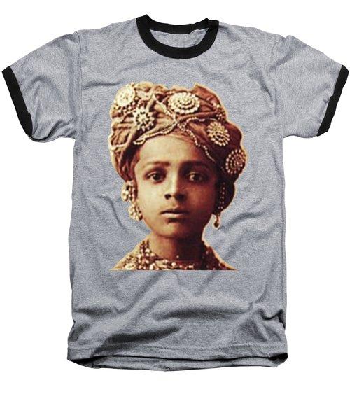 Little Prince Baseball T-Shirt by Asok Mukhopadhyay